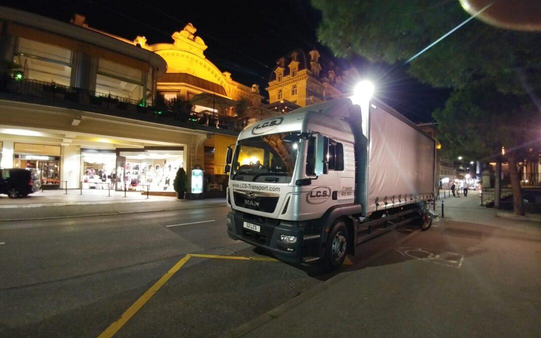 LCS Transaport lorry in switzerland