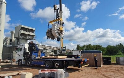 HiAb delivery of Gas Turbine Engine to Belgium