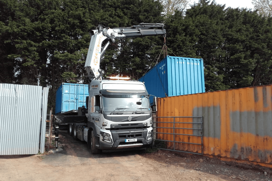 LCS Transport Lorry lifting container