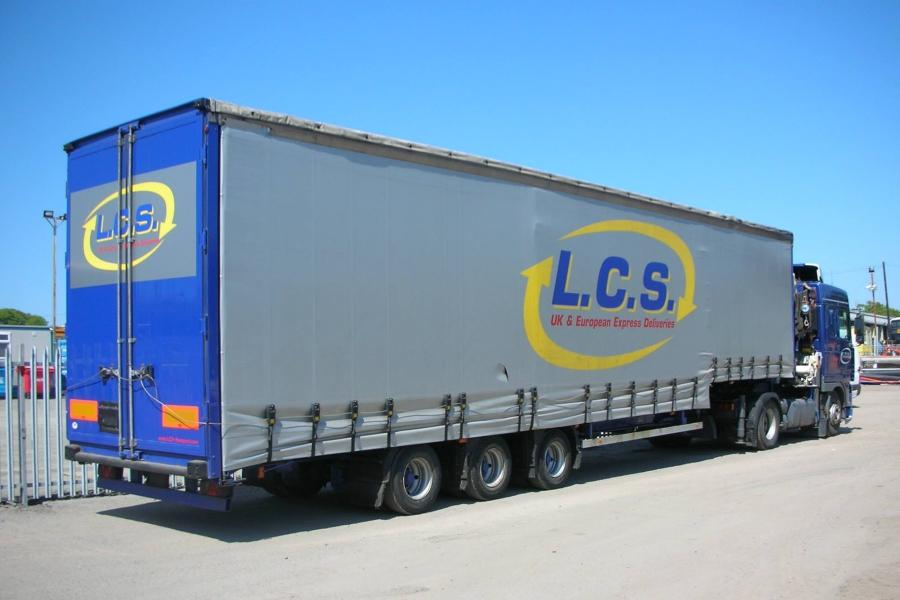 LCS transport HGV lorry parked