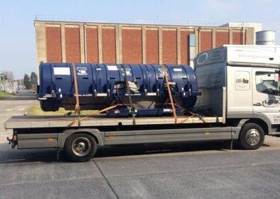 LCS Transport Aeroplane engine on lorry