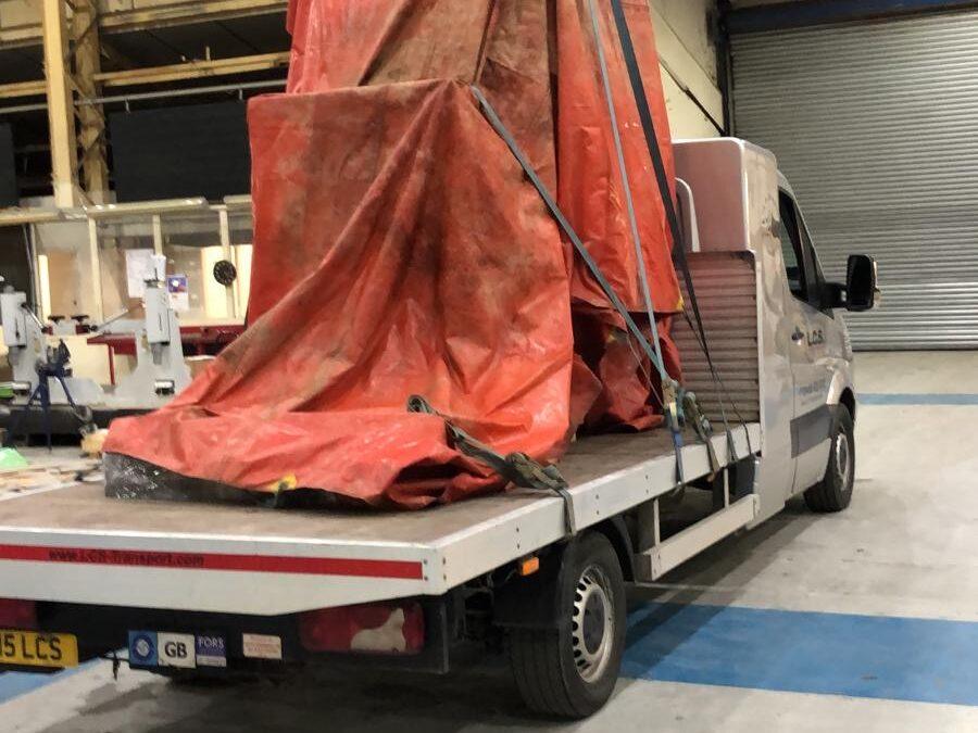 LCS Transport abnormal load on van