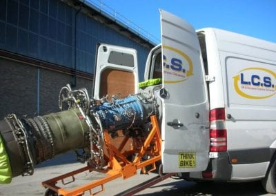 LCS Transport engine being loaded into van
