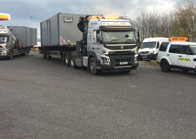 LCS Transport lorry with wide load parked