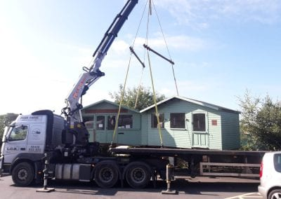 LCS Transport lorry loading shed