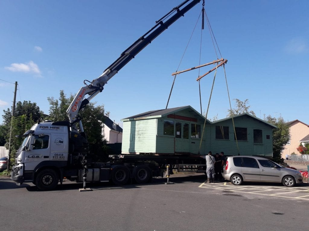 LCS Lorry offloading Office in Bovey