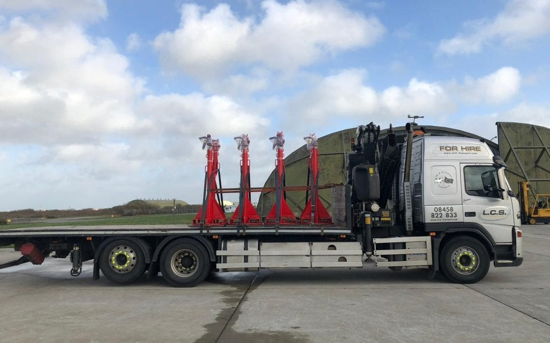 LCS HIAB Lorry in Newquay Airport