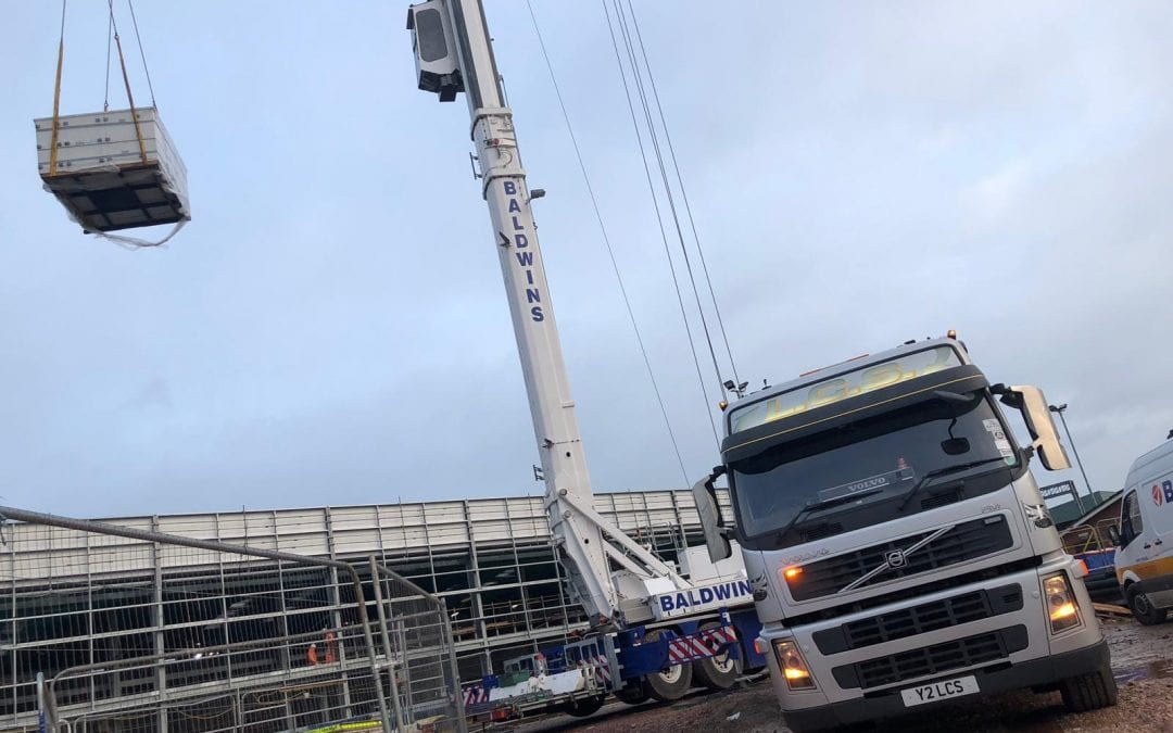 LCS lorry on building site