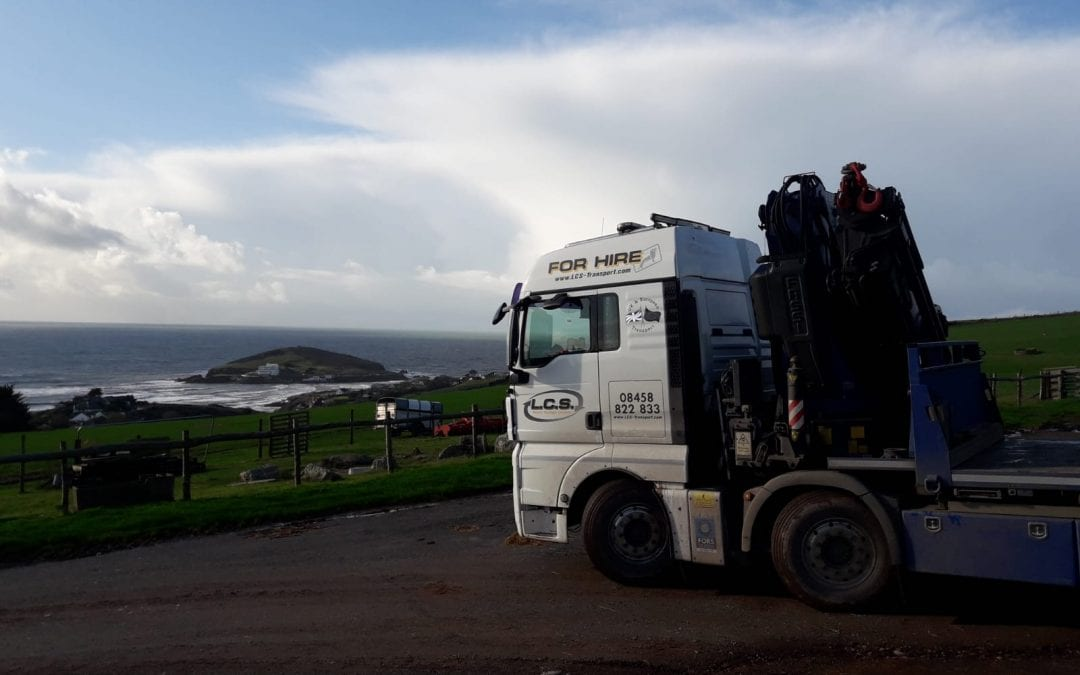 LCS Lorry parked in beach side car park
