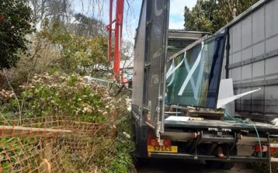Sliding roof delivery to Salcombe