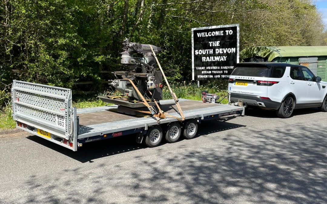 Same day delivery of Milling Machine to South Devon Railway