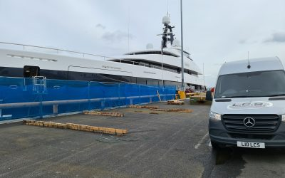 Dedicated shipment of spare shipping equipment to 75ft Yacht in Poole Harbour