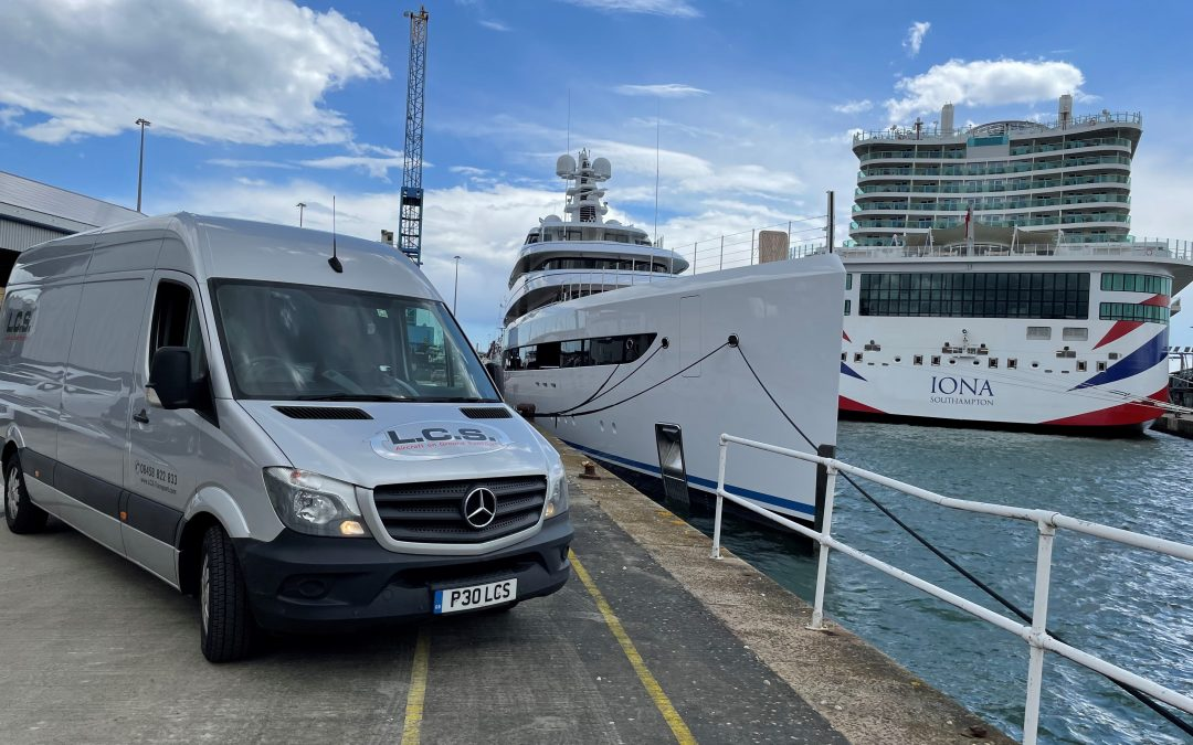 Urgent same-day delivery to luxury yacht in Southampton dock