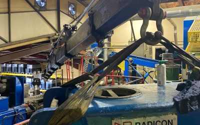 Threading needles with a PM65t crane – LCS Crane Division